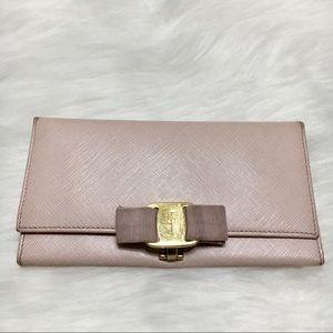 Salvatore Ferragamo Vara Pink Continental Wallet